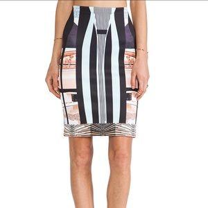 Clover Canyon Neoprene Bodycon Pencil Skirt